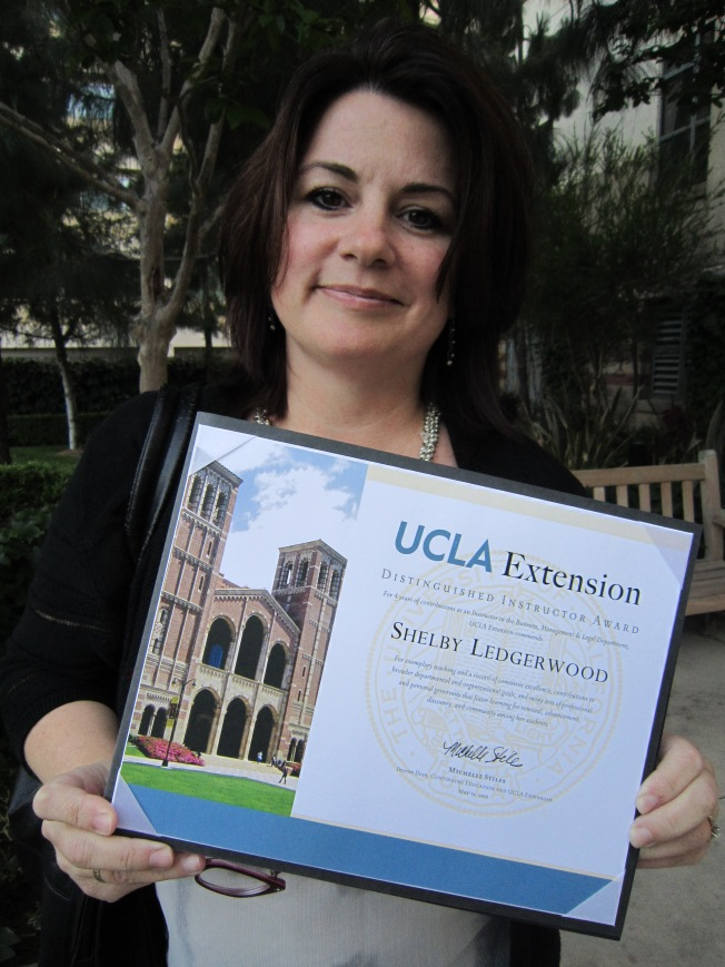 Distinguished Instructor Award UCLA Ext 2013